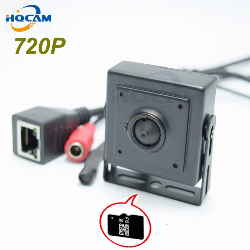 HQCAM tf-karte 720 P Audio Mini Ip-kamera Home Security kamera IP Cam Indoor Sicherheit CCTV IP Kamera optional 3,6 2,8 2,1mm objektiv