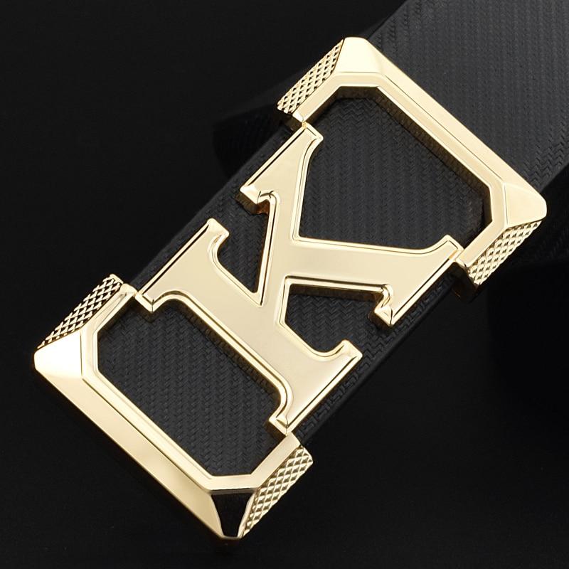 High Quality K Belts Mens Designer Fashion Popular Luxury Famous Brand Waistband Genuine Leather Slide Buckle Waist Strap