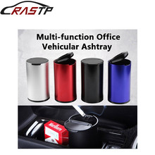 RASTP-Aluminum Alloy Car Smoke Ashtray Cigarette Holder Container Cup RS-AS003