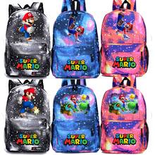 Piękne Super Mario Yoshi plecak na laptopa chłopcy dziewczyny z powrotem do szkoła prezent Mochila mężczyzna kobiet gorąca sprzedaż podróży plecak tanie tanio Plecaki Płótno Unisex Miękka zipper Poliester 20-35 litr Łukowaty pasek na ramię backpack Solidna torba Na co dzień
