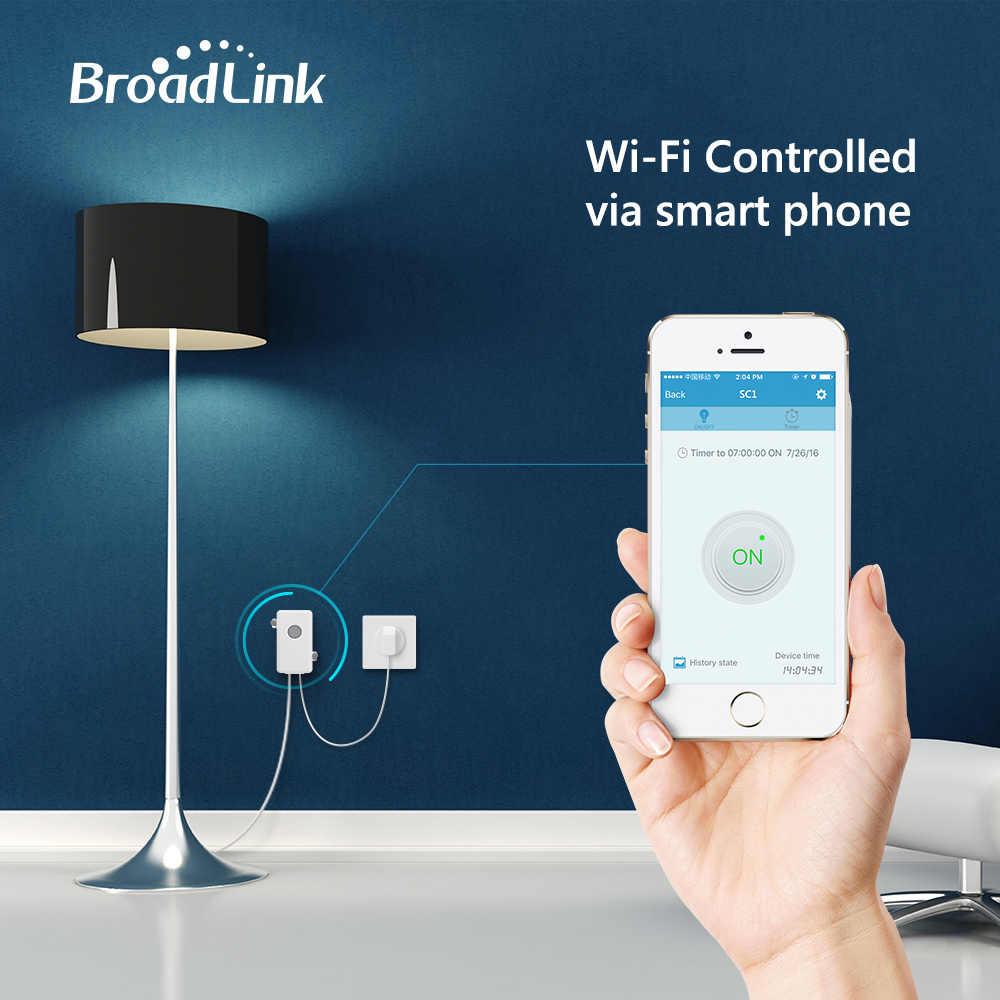Broadlink SC1 inteligentny przełącznik WiFi APP 2.4 GHz sterowania rozrządu Draadloze pilot zdalnego sterowania 2500 W wsparcie iOS 7.0/Android