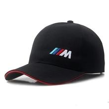 Cotton M logo M performance car baseball hat for bmw E21 E30 E36 E46 E90 E91 E92 E93 F30