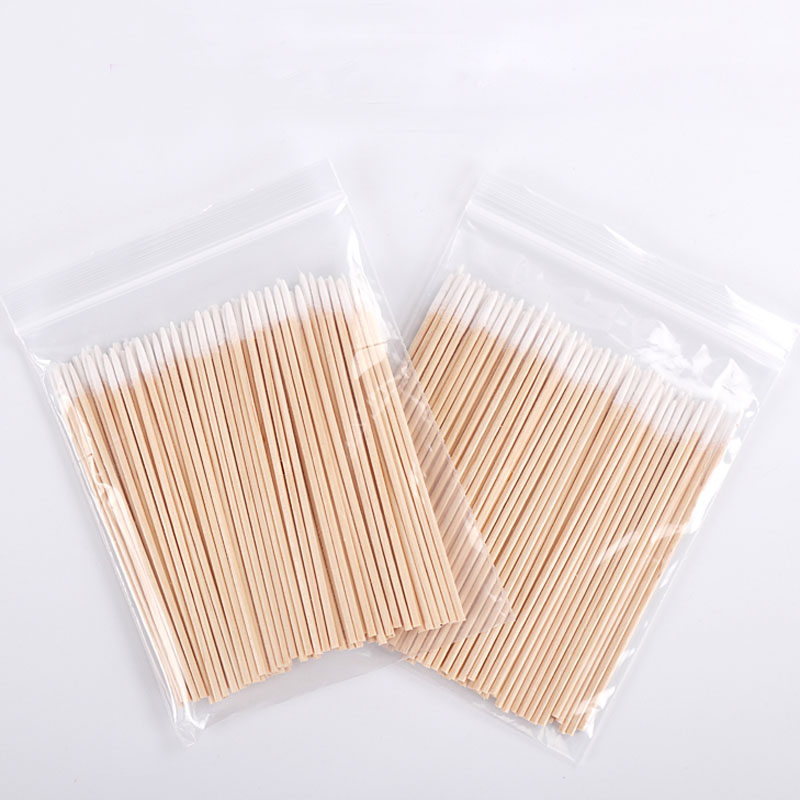 200pcs Cotton Swab Sticks Cosmetics Permanent Makeup Small Pointed Tip Disposable Cotton Sticks Microblading Tattoo Accessories