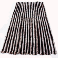 240 x 180 cm Large size Chinchilla rex rabbit fur plate real rabbit fur rug big rex rabbit fur blanket