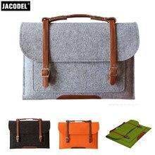 Jacodel WoolFelt Girl Laptop computer Sleeve Bag 11 12 13 inch Protable Laptop computer bag for Macbook Case for Lenevo Asus HP Pill Sleeve Bag