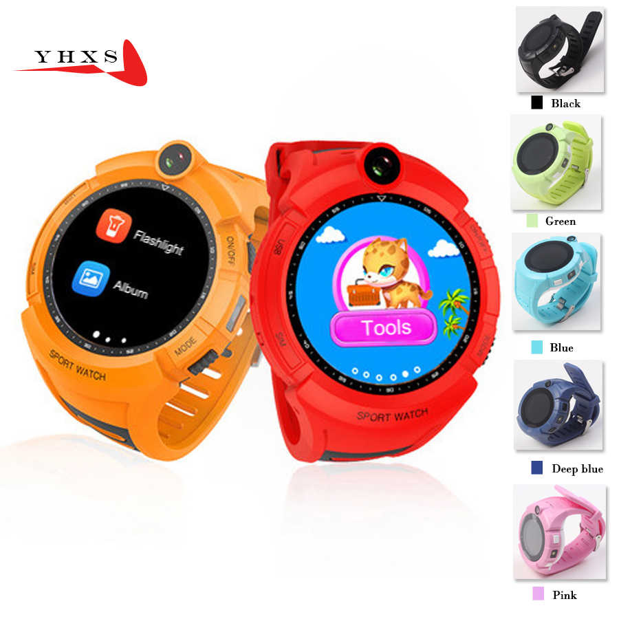 1.22' Touch Round Screen Smart Location Finder Device LBS Tracker Watch for Baby Kid Flashlight Remote Monitor Camera Wristwatch