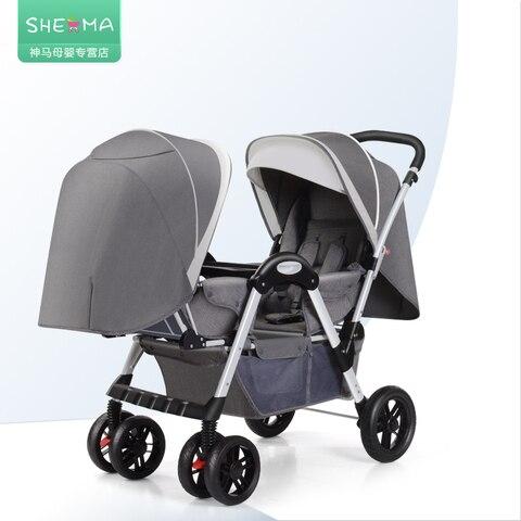 carrinho de bebe para o curso sentar mentir leve guarda chuva dobravel carro
