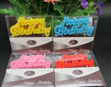 1 Pack Cute Environmental English Happy Birthday Letter Candles Children Kids Baby Shower Birthday Party Ice Cream Cake Decors