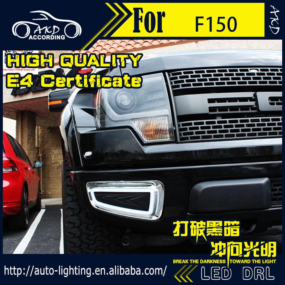 Car styling led daytime running light for ford f150 drl 2014 2015 raptor led drl