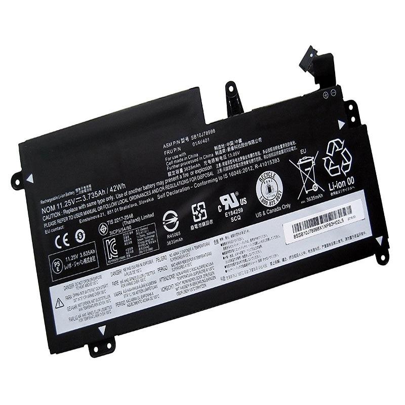 LAPTOP BATTERY SB10J78998 01AV401 ( 11.25V 3.735Ah 42WH ) For Lenovo ThinkPad New S2 20GUA004CD