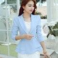 2016 Fashion Jacket Women Suit Foldable Long Sleeves Lapel Coat Candy Color Blazer Single Button Vogue Blazers Jackets