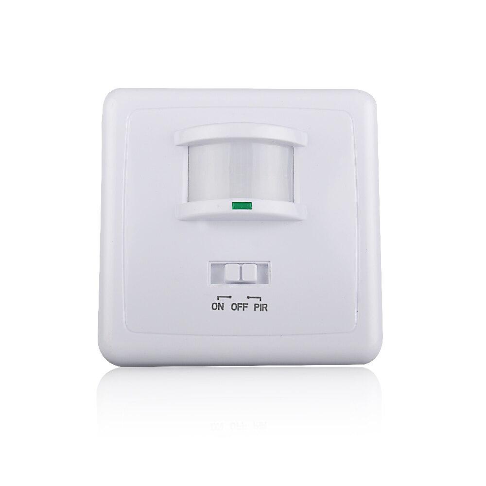 Wall Motion Sensor Light Switch: High quality wall mounted pir motion sensor light switch MAX 600w load+9m  max distance,Lighting
