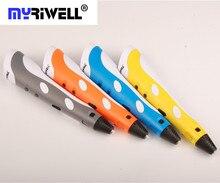 Симпатичные Kawaii DIY 1.75 мм ABS/PLA 3D Печати Пера + 3 шт. Нити + Адаптер Питания Smart 3D Пера даубер Подарок Для Детей Рисунок