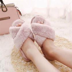COOTELILI/зимние женские домашние тапочки с искусственным мехом, модная теплая обувь, женские слипоны на плоской подошве, женские шлепанцы