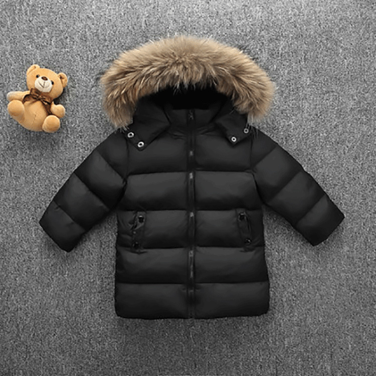 Boys Girls White Duck Down Jacket Kids Hooded Fur Collar Warm Coats Children's Down Jackets 2- 7 Years Baby buenos ninos thick winter children jackets girls boys coats hooded raccoon fur collar kids outerwear duck down padded snowsuit
