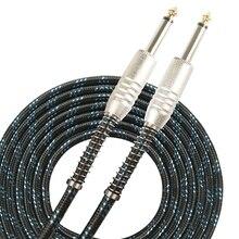 SUNYIN кабель для электрогитар черный 3 м и 6 аудио кабель Шнур два прямой разъем с гибкой защиты гитары запчасти интимные аксессуары