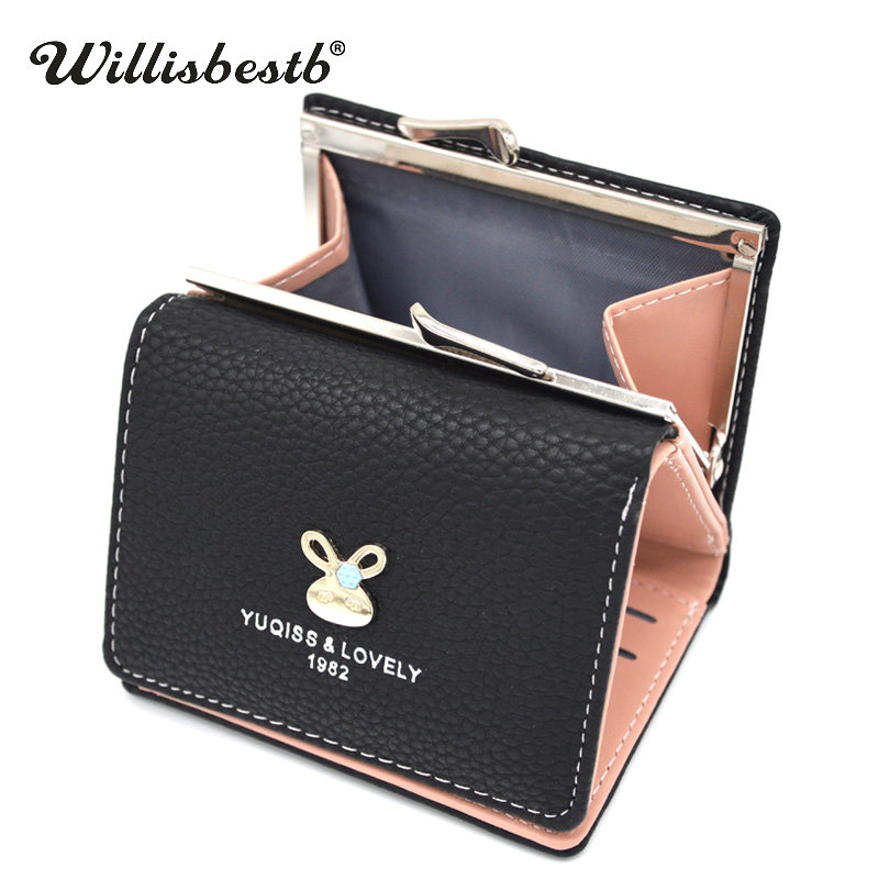 2018 New Letter Designer Women Wallet Leather Purse Female Mini Hasp Brand Wallets Women Small Ladies Coin Purses Card Holder new small designer slim women wallet thin zipper ladies pu leather coin purses female purse mini clutch cheap womens wallets
