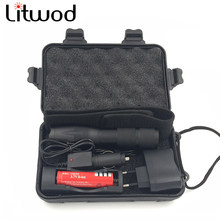 Litwod Z90A100 LED Flashlight & lighting portable light bicycle Torch search lantern 5 Modes Zoomable XML-T6 / L2 Self defense(China)