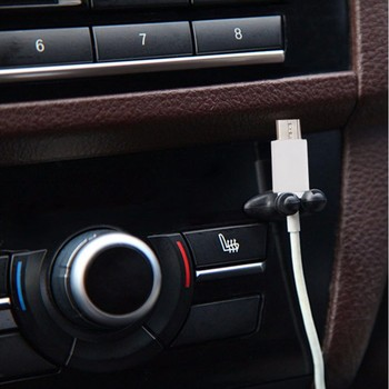 цена на 8x Car Charger Line USB Cable Clip Accessories Sticker For Toyota Corolla Avensis Yaris Rav4 Auris Hilux Prius Prado Camry Reiz