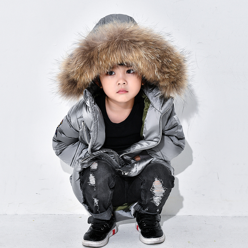90% Duck Down Children Winter Jackets For Girls Fur Collar Hooded Boys Duck Downs Jacket Warm Coat Big Kids Outerwear -40 Degree winter down jacket for girls kids clothes children thicken coats duck down jackets girls hooded bow snowsuits natural fur coat