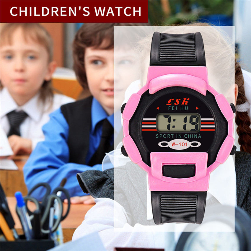 Digital Watches Girls Children Digital LED Electronic Analog Sport Watches 2019 Children Wrist Watch Waterproof #2019