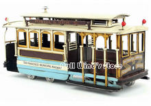 Nostalgic California San Francisco streetcar Vintage Iron Model Decoration Iron Hand car model Beautiful gift