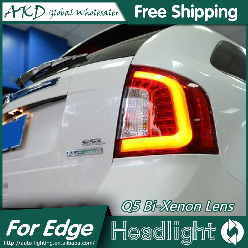AKD Car Styling for Ford Edge LED Tail Lights 2012-2014 Edge Limited Tail Light Rear Lamp DRL+Brake+Park+Signal jgd brand new styling for mitsubishi pajero sport tail lights 2009 2015 led tail light rear lamp led drl singal car lights