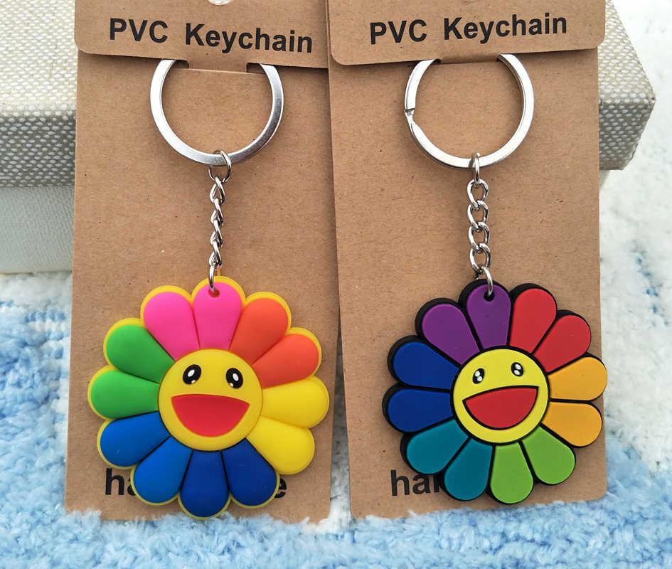 IVYYE 1 шт. красочный Подсолнух аниме-брелок для ключей ПВХ Рисунок брелок милые игрушки брелок для ключей подарок на день рождения унисекс Новинка