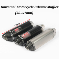 38~51mm Yoshimura Motorcycle Exhaust Muffler Modified Carbon Fiber+stainless Steel Moto Escape For Tmax530 F700GS F650GS ZX 10R