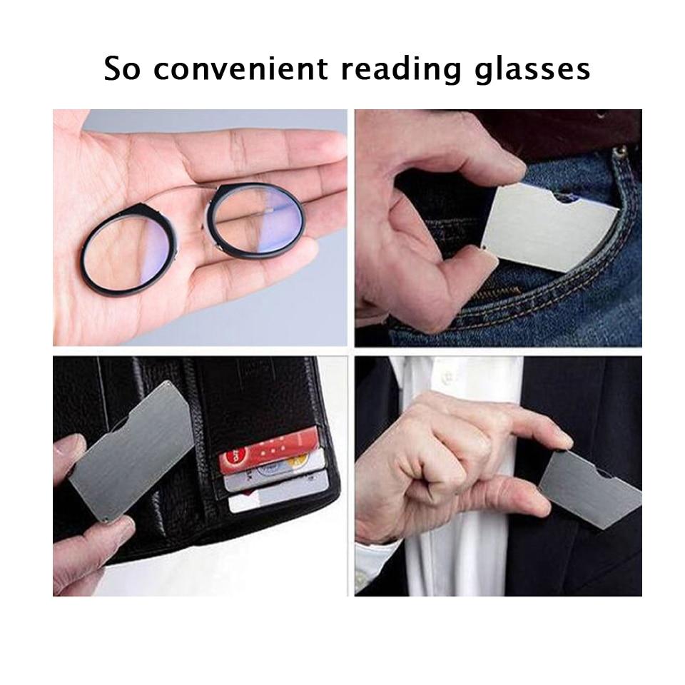 Pince-Nez Plast Titan Full Frame Läsglasögon TR90 Portable Nose Men - Kläder tillbehör - Foto 3