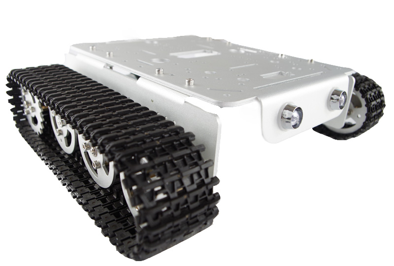 Hello Maker T200-M Silver Alloy DIY Tank Chassis Robot Chassis unbrand diy sushi maker