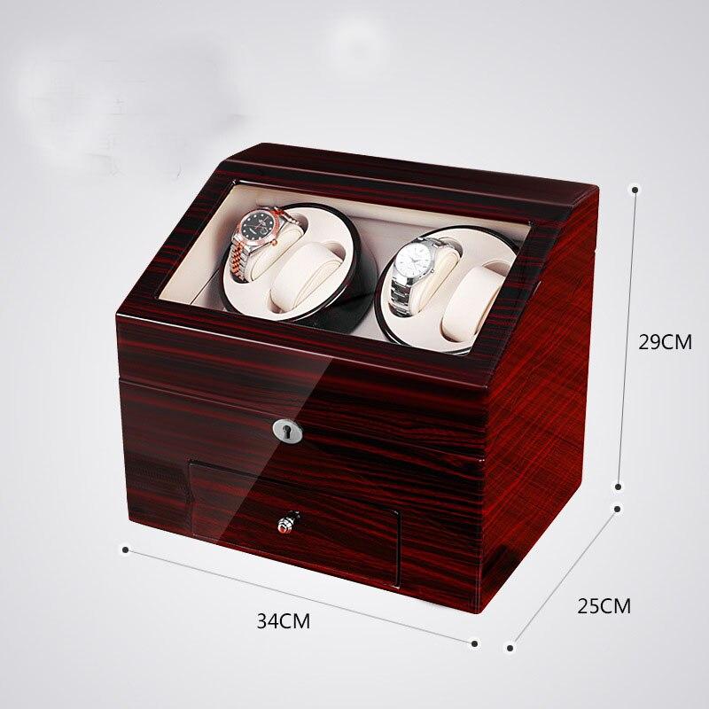 2020 nouveau Design 4 montres remontoir 10 montres stockage affichage tiroir laque bois luxe utilisation mondiale cadeau serrure en gros drop envoyer - 3