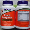 Now Foods Plant Enzymes Supports Healthey Digestion 240 Veg capsules Free shipping
