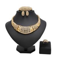 Sistemas de la joyería de Moda Nupcial de La Joyería Turca Antigüedad de La Vendimia Grandes Mujeres de Color cristal de La Joyería del Oro de La Joyería India