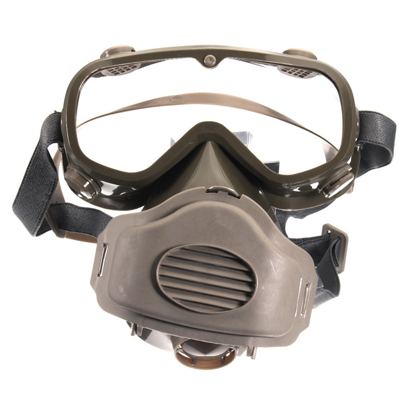 NEW Safurance Dust Mask Respirator Half Facepiece Paint Breathing Gas Protection Glasses Workplace Safety Masks Filter new safurance protection filter dual gas mask chemical gas anti dust paint respirator face mask with goggles workplace safety