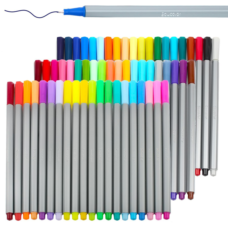 Magicfly 60 Colors Colored Fineliner Pen Set 0.4mm Fine Point Markers with Drawing Writing Coloring Book Bullet Journal Planner sta brush marker pens fine point markers set of 36 colors for bullet journal adults coloring book note taking writing planning