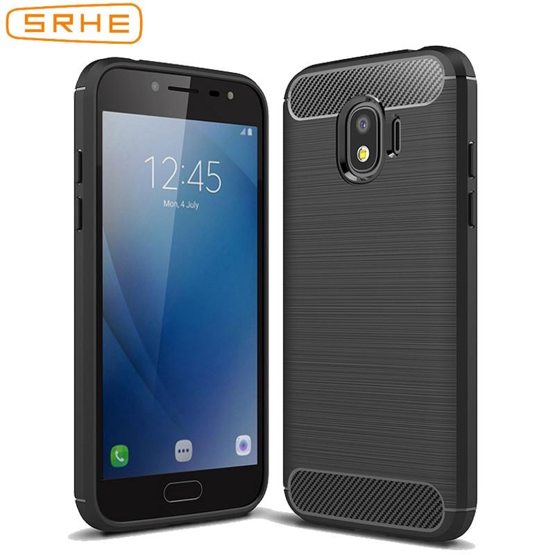 SRHE For Samsung Galaxy J2 2018 Case Soft TPU Bumper Carbon Fiber Cover For Samsung Galaxy J2 Pro 2018 J2 Core J3 2018 J3 Star