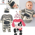 2016 New Baby Animal Rompers Long Sleeve Cute Baby Girl Clothes Newborn Clothing Casual Baby Boys Clothing Infant Suit Toddler