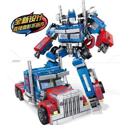 621018 Transformation technique 384 pièces 2in1 Optimus transformer premier Robot voiture gros camion blocs modèles bébé jouets - 5