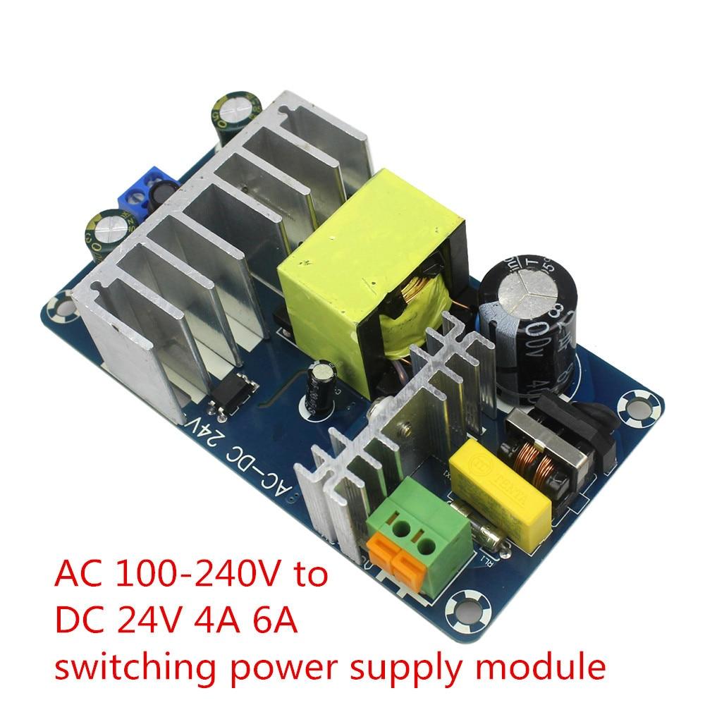 Kostenloser Versand AC 100-240 V zu DC 24 V 4A 6A Schaltnetzteil-modul AC-DC FZ0861 für arduino Diy Kit