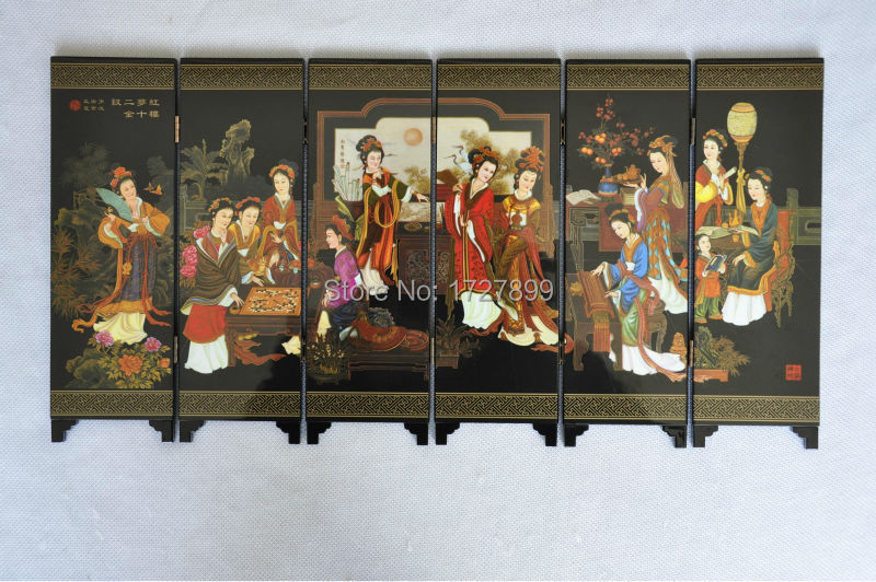 2015 New Chinese Folding Screen Decorative Crafts Retro Wood Mini Home Decor  Folding Decorative Screens Souvenirs In Screens U0026 Room Dividers From Home  ...