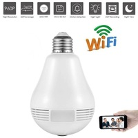 New Bulb LED Light Wifi IP Camera Wi Fi Fish Eye 960P 360 Degree CCTV VR