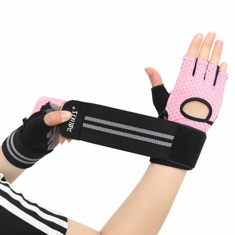Men Women Half Finger Sports Training Gloves Gym Fitness Weightlifting Gloves Anti-slip Resistance Exercise Training Wrist Glove