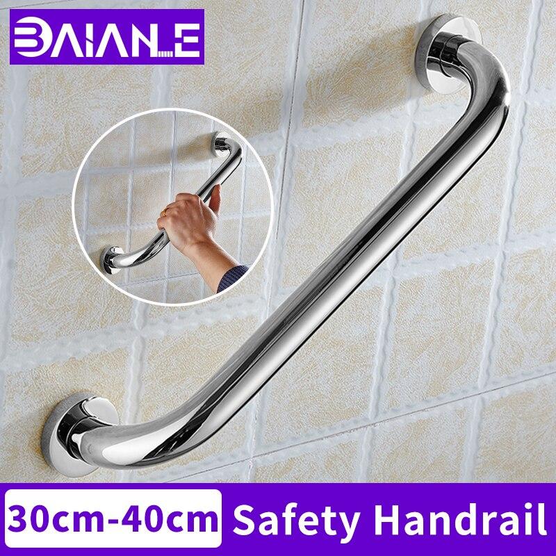BAIANLE Stainless Steel Shower Handrail Bathroom Tub Anti Slip Handle Elderly Toilet Safety Grab Bar Wall Mount Towel Rack