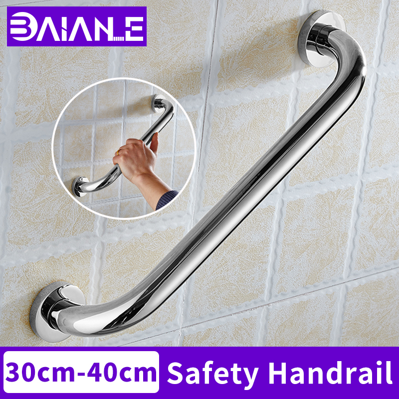 BAIANLE Stainless Steel Shower Handrail Bathroom Tub Anti Slip Handle Elderly Toilet Safety Grab Bar Wall Mount Towel Rack