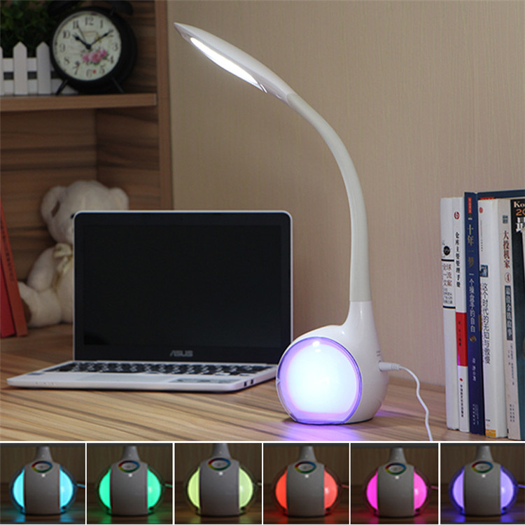 Image 5 - The most popular Bluetooth speakers touch buttons multi function eye care learning reading table lamp speaker 36 LEDs light-in Combination Speakers from Consumer Electronics