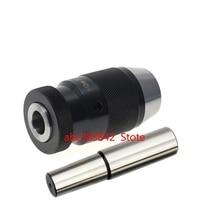 1SET drill chuck with straight shank 18mm arbor C18 B10 B12 B16 B18 Automatic Locking Chuck Self Tighten Drilling Machine