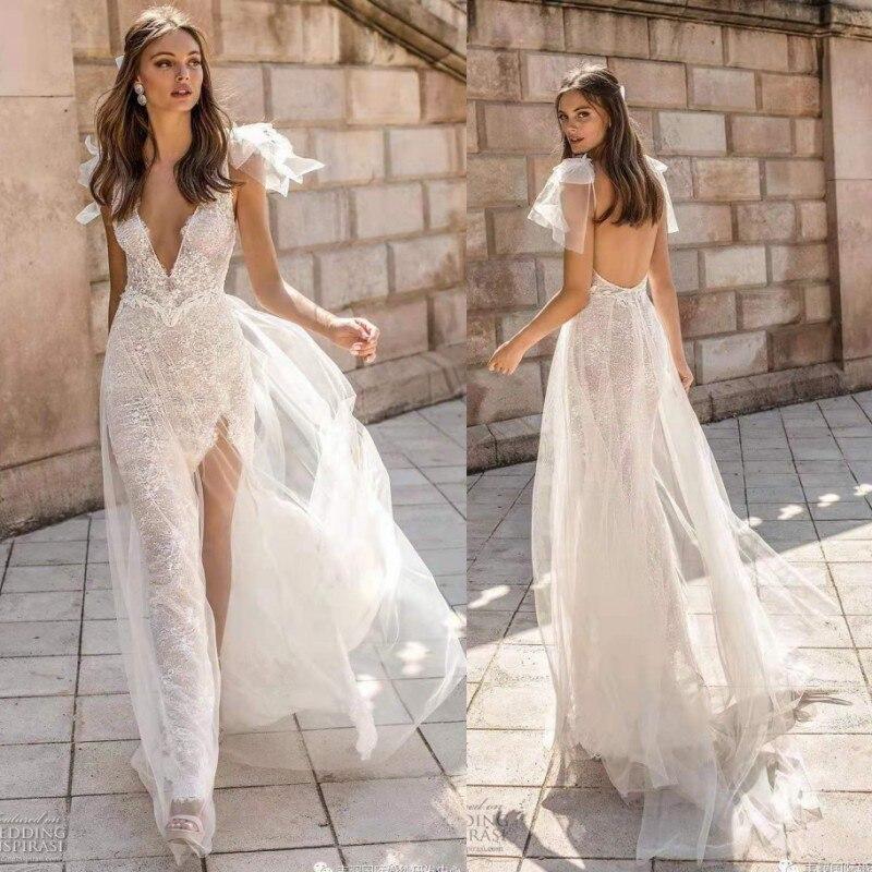 Backless Wedding Gowns: Aliexpress.com : Buy 2019 Sexy Lace Backless Boho Wedding