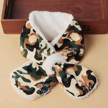 New Cotton Thickened Cute Cartoon Out Windbreak Warm Scarf, Babies, Children, Boys and Girls, Various Wearing Methods,Flannel(China)