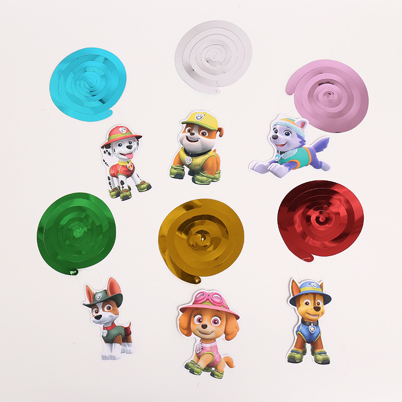 PAW PATROL Birthday Party Theme Decoration Supplies Birthday Theme Decorative Props Spiral Pendant Pendant Size 15.5*20CM